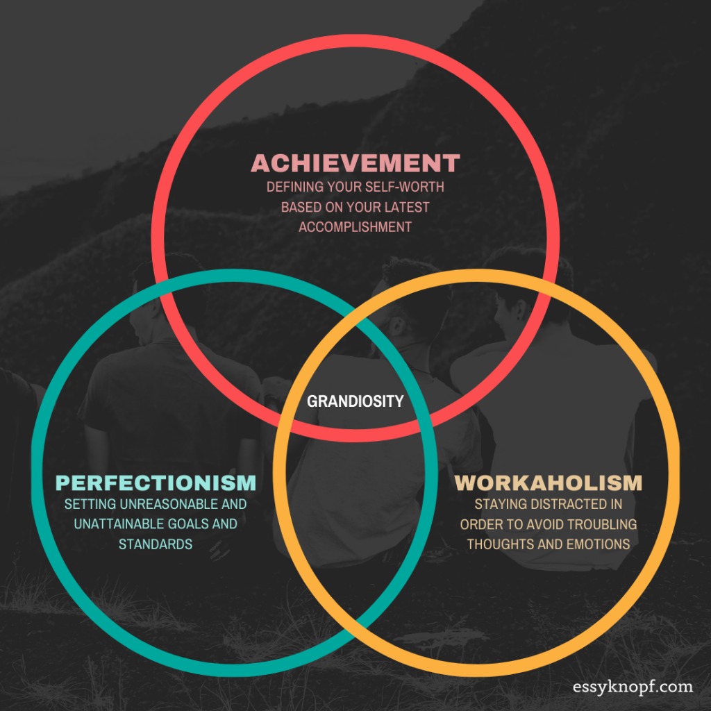 essy knopf gay identity grandiosity achievement perfectionism workaholism