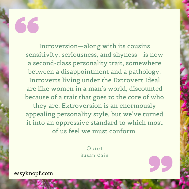 essy knopf introverts susan cain quiet