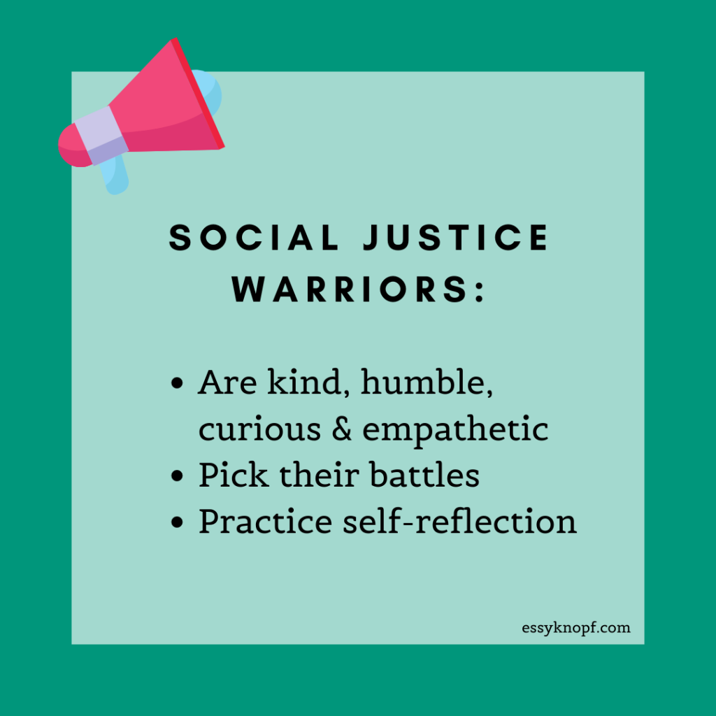 essy knopf social justice warriors