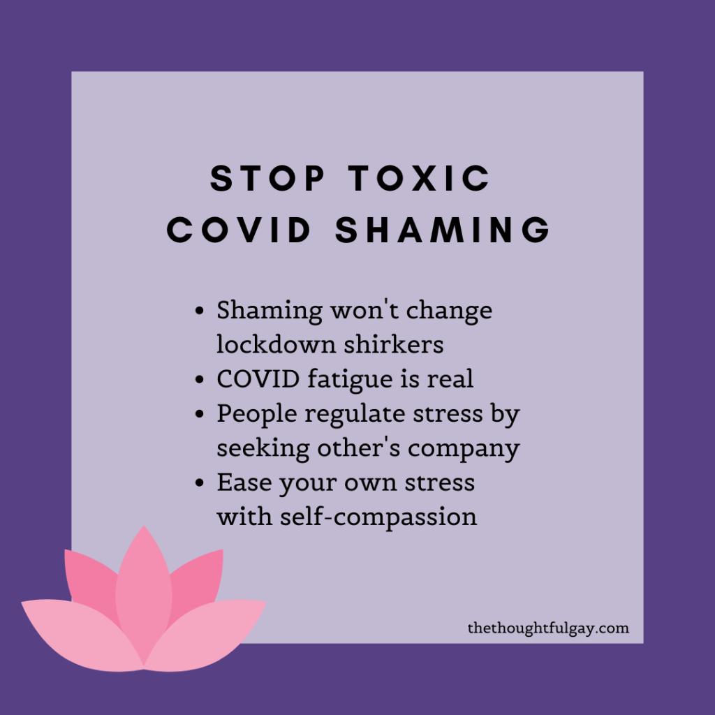 the thoughtful gay coronavirus toxic covid-19 shaming