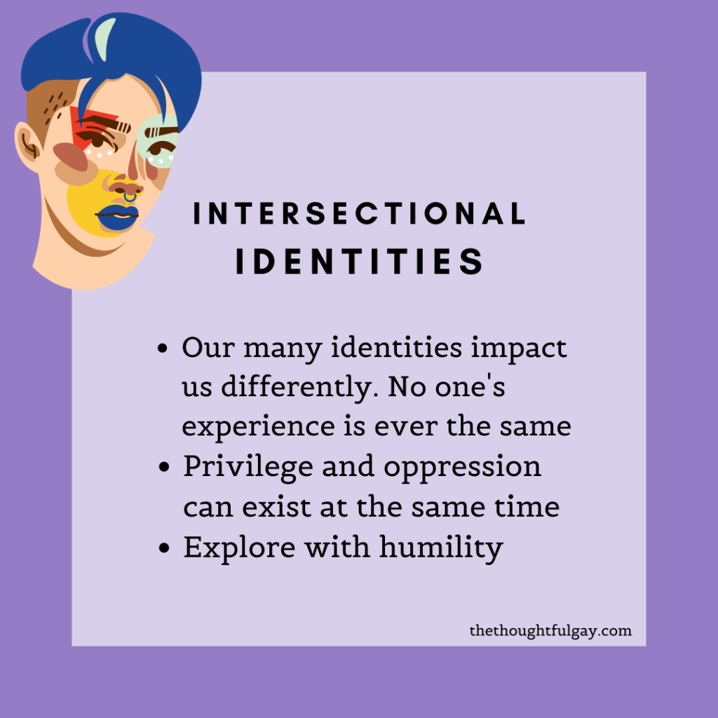 the thoughtful gay intersectionality