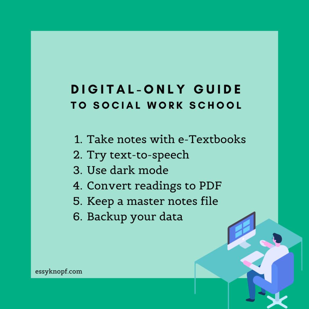 Essy Knopf digital-only social work school