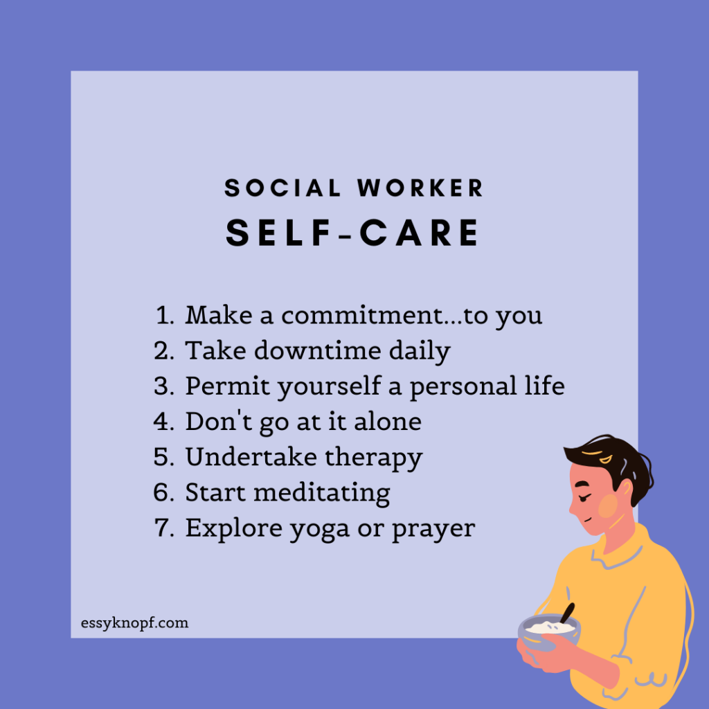 Essy Knopf self-care social worker