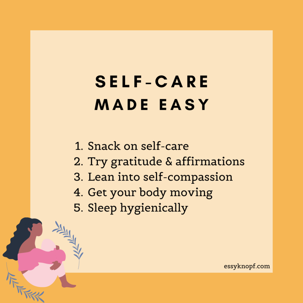 Essy Knopf self-care ticks social work